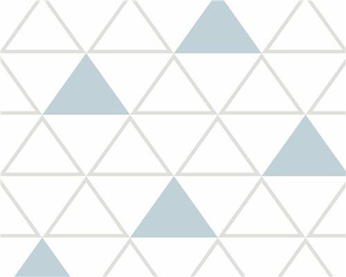 Papel de Parede Maxi Triângulos Cinza e Azul