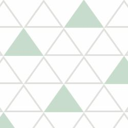 Papel de Parede Maxi Triângulos Cinza e Verde