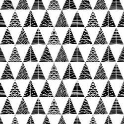 Papel de Parede Triângulos com Textura Preto