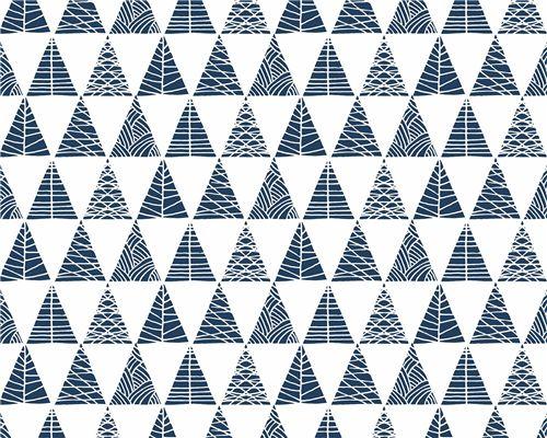 Papel de Parede Triângulos com Textura Marinho