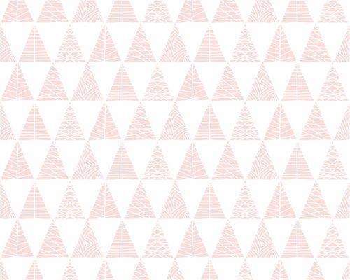 Papel de Parede Triângulos com Textura Rosa Ballet