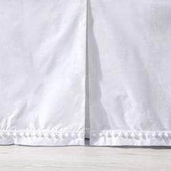 Saia de Berço Prega Pompom Branca