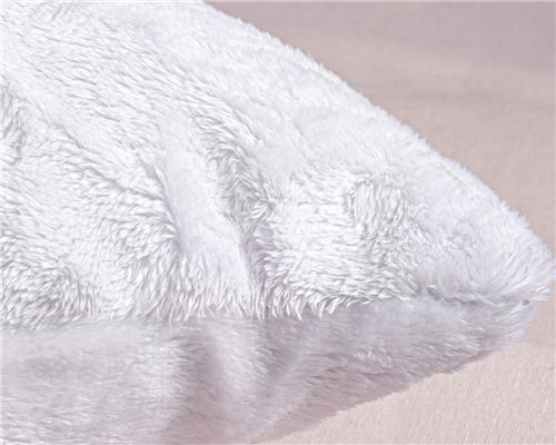 Almofada Quadrada Pelúcia Branca