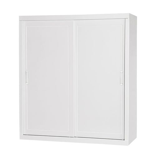 Guarda-roupa 2 Portas Correr e 3 Gavetas Confort Branco 1,80M