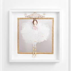 Quadro Miniatura Bailarina Claire Rosé com Espelho