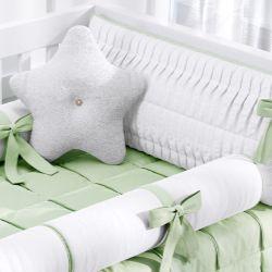 Kit Berço Naturale Branco e Verde