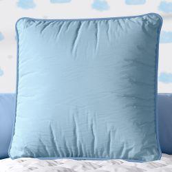 Almofada Quadrada Azul Cordonê 38cm