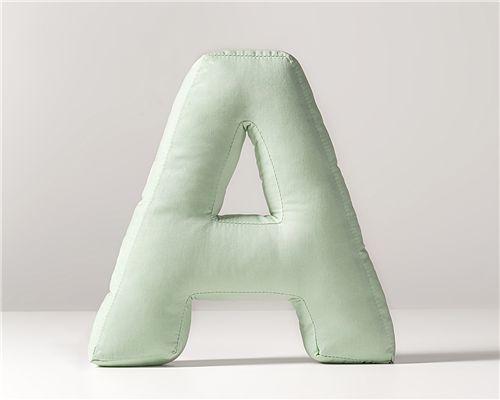 Almofada Decorativa Letra A Verde