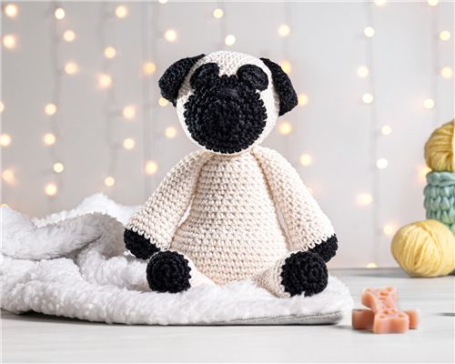 Cachorrinho Amigurumi Pug