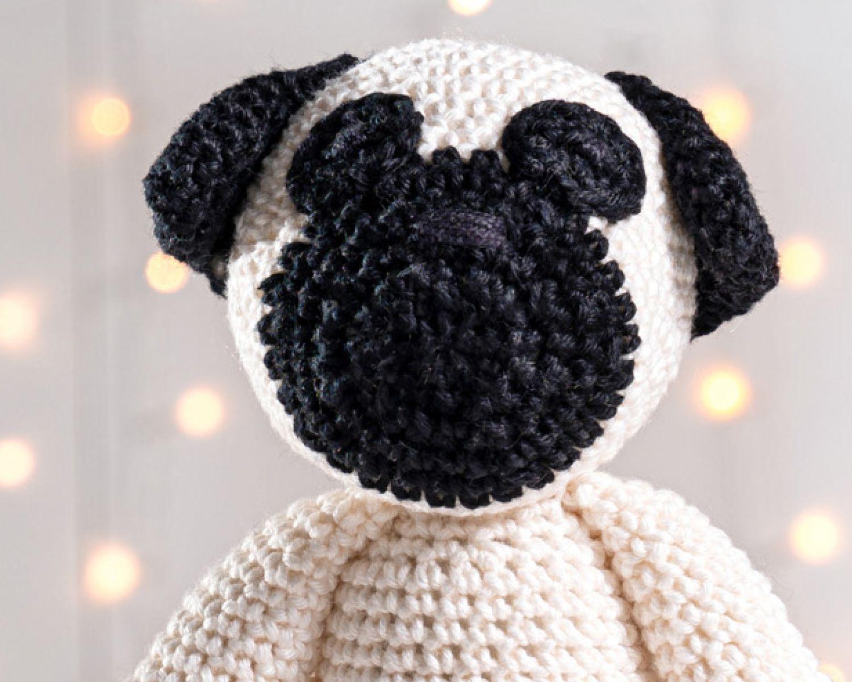 Pug Puppy | Crochet dog patterns, Crochet animals, Crochet dolls | 1200x1500