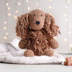 Cachorrinho Amigurumi Setter Irlandês