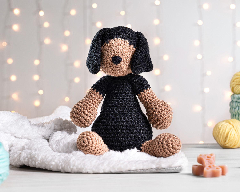 134 Crochet Pattern Dog Dachshund Genreh - Amigurumi PDF file by ... | 1200x1500