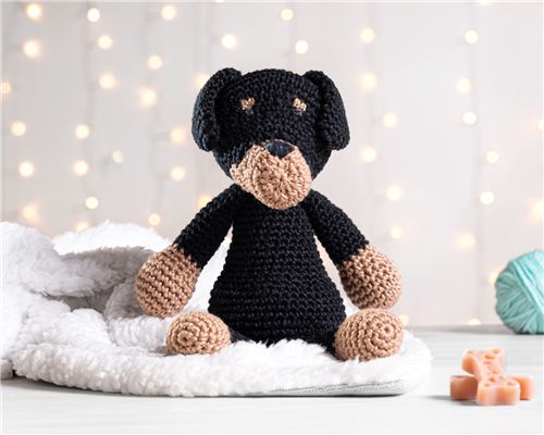 Cachorrinho Amigurumi Rottweiler