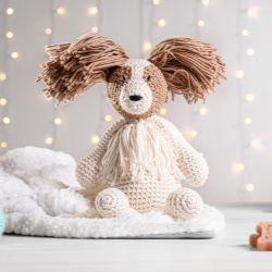 Cachorrinho Amigurumi Spaniel Anão Continental