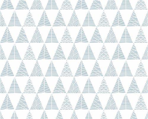 Papel de Parede Triângulos com Textura Azul
