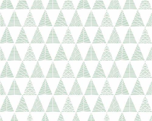 Papel de Parede Triângulos com Textura Verde