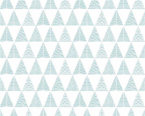 Papel de Parede Triângulos com Textura Verde Água