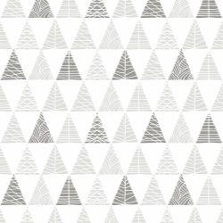 Papel de Parede Triângulos com Textura Cinza com Grafite