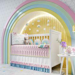 Quarto de Bebê Arco-íris Patchwork