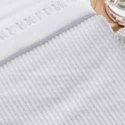 Manta Tricot Trança Cama Maternidade Branco 2,55M