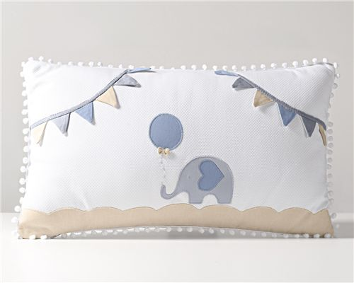 Almofada Retangular Elefantinho Azul