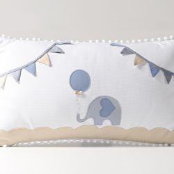 Almofada Retangular Elefantinho Azul 50cm