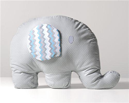 Almofada Elefantinho Poá Chevron