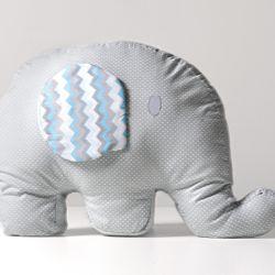 Almofada Elefantinho Poá Chevron 42cm