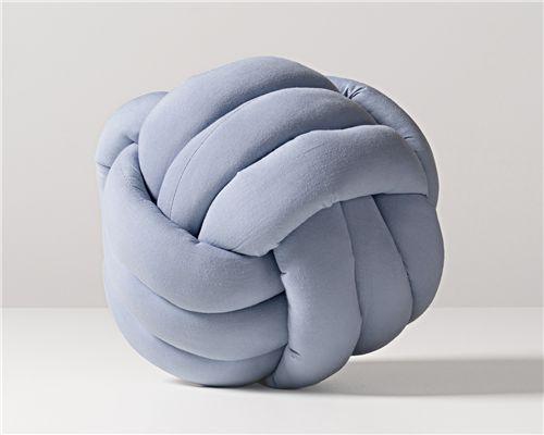 Almofada Nó Escandinavo Azul 25cm