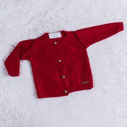 Cardigan Tricot Vermelho Cerejinha
