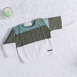 Suéter Tricot Trança Verde Napolitano