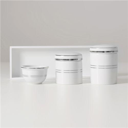Kit Higiene Porcelana Prata