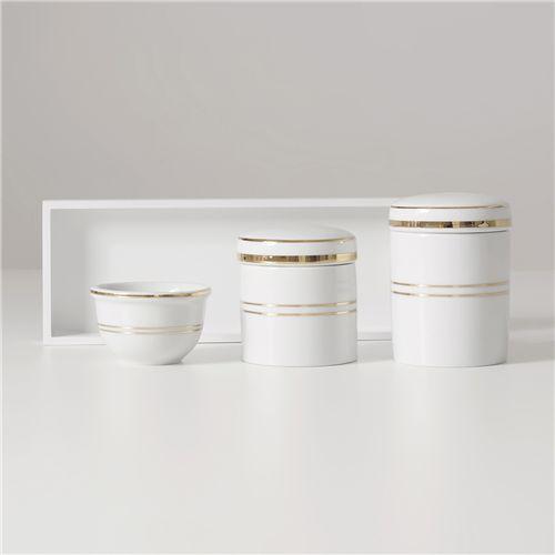 Kit Higiene Porcelana Ouro