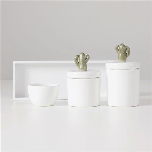 Kit Higiene Cerâmica Cacto