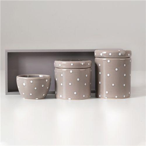 Kit Higiene Cerâmica Poá Fendi