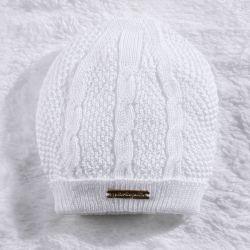 Touca para Bebê Tricot Branco