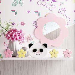 Prateleira MDF Panda Floral Moderna