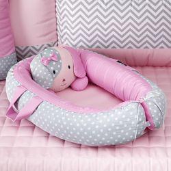 Ninho para Bebê Redutor de Berço Amiguinha Cachorrinha Rosa
