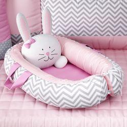 Ninho para Bebê Redutor de Berço Amiguinha Coelhinha Rosa 75cm