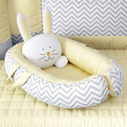 Ninho para Bebê Redutor de Berço Amiguinho Coelhinho Amarelo