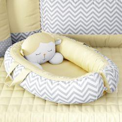 Ninho para Bebê Redutor de Berço Amiguinho Carneirinho Amarelo