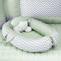 Ninho para Bebê Redutor de Berço Amiguinho Carneirinho Verde 75cm