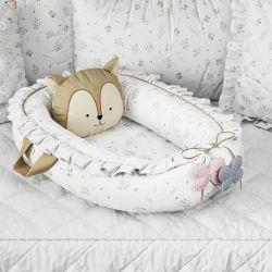 Ninho para Bebê Redutor de Berço Bosque Encantado Esquilo