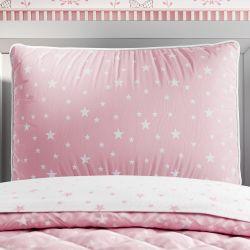 Capa de Travesseiro Infantil Estrelinha Rosa