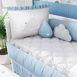 Kit Berço Nuvem de Amor Azul