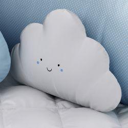 Almofada Nuvem Fofinha Branco e Azul