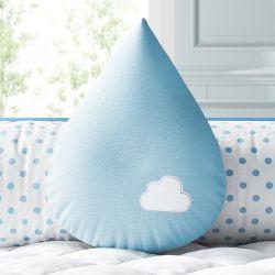 Almofada Gota Azul com Nuvem 30cm