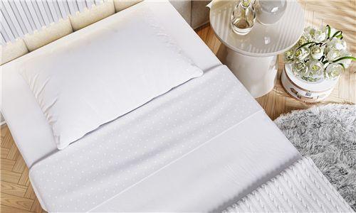 Kit Cama Maternidade Coração com Manta Tricot Branco 300 Fios