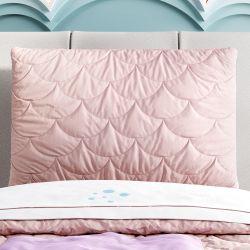 Capa de Travesseiro Infantil Escama Sereia Rosa