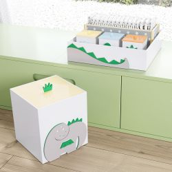 Kit Higiene MDF Amiguinhos Dino